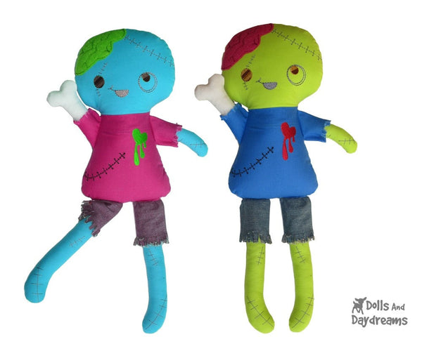 ITH Zombie Doll Pattern - Dolls And Daydreams - 4