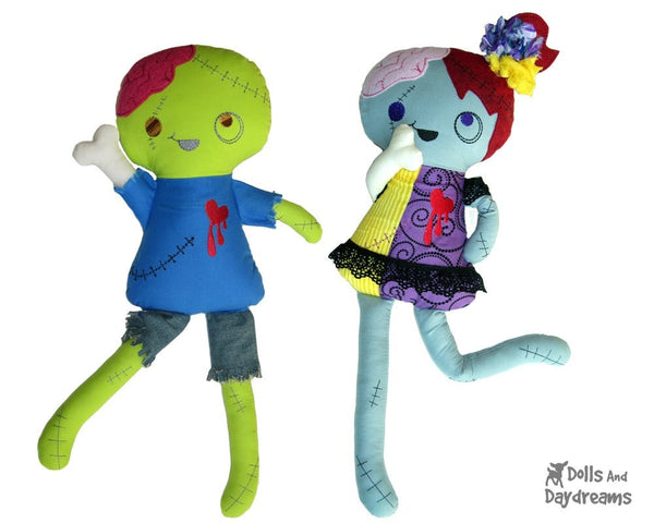 ITH Zombie Doll Pattern - Dolls And Daydreams - 1