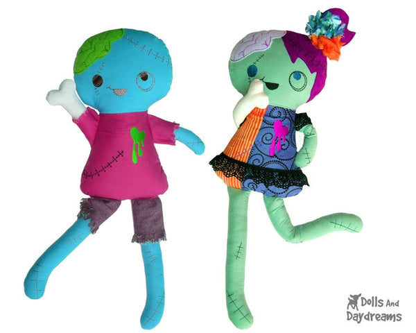 ITH Zombie Doll Pattern - Dolls And Daydreams - 5