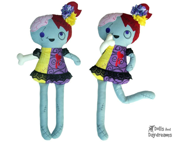 ITH Zombie Doll Pattern - Dolls And Daydreams - 3