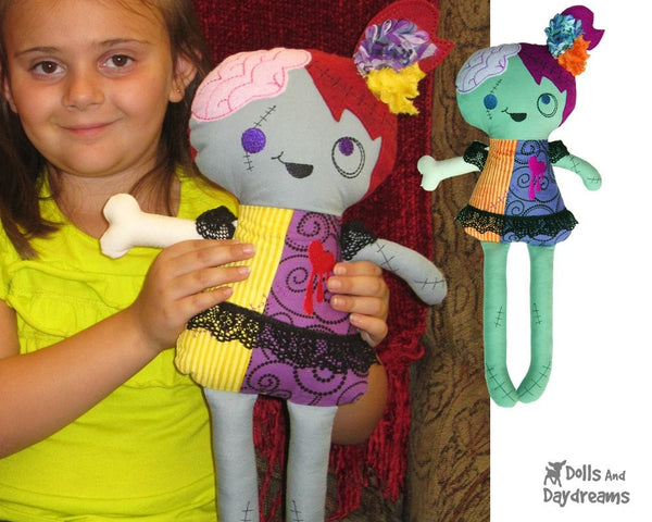 ITH Zombie Doll Pattern - Dolls And Daydreams - 6