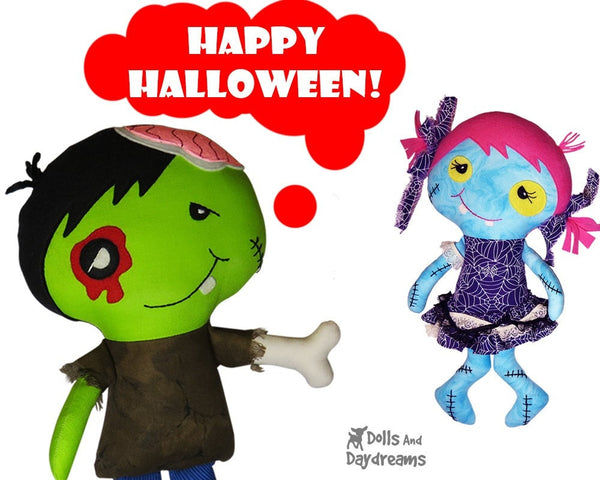 Zombie Sewing Pattern - Dolls And Daydreams - 4