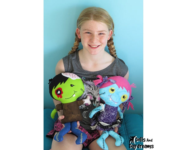 Zombie Sewing Pattern - Dolls And Daydreams - 3