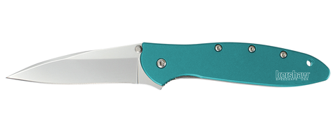 "Kershaw Leek Spring Assisted Knife Teal (3"" Bead Blast) 1660TEAL"