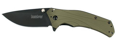 "Kershaw Knockout Assisted Opening Knife Olive (3.25"" Black) 1870OLBLK"