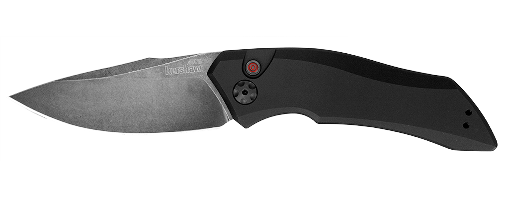"Kershaw Launch 1 Automatic Knife (3.4"" BlackWash) 7100BW - GearBarrel.com"