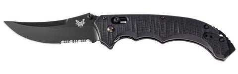 "Benchmade Bedlam Automatic Axis Knife (4"" Black Serr) 8600SBK"