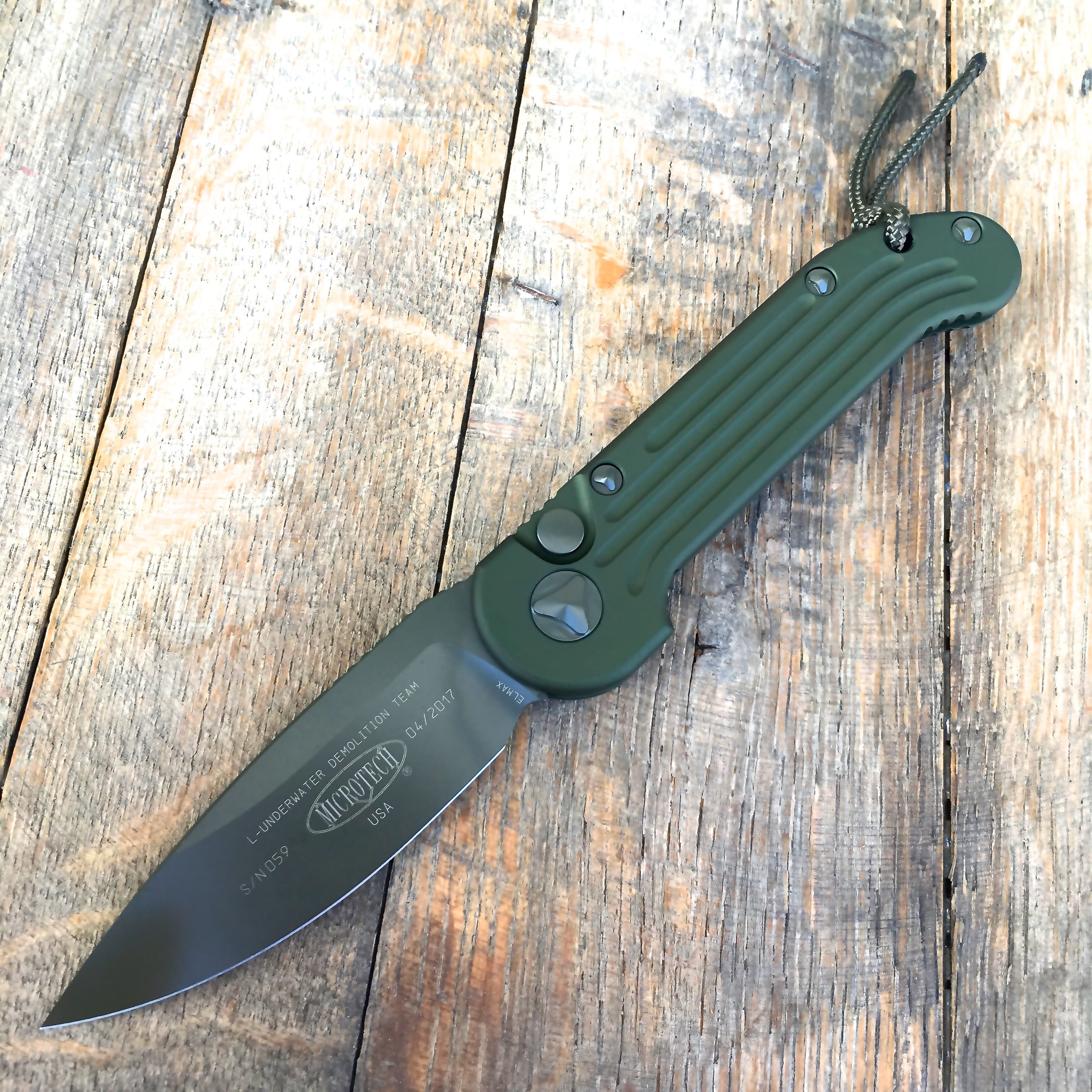 "Microtech LUDT Tactical Automatic (3.4"" Green) 135-1GR - GearBarrel.com"
