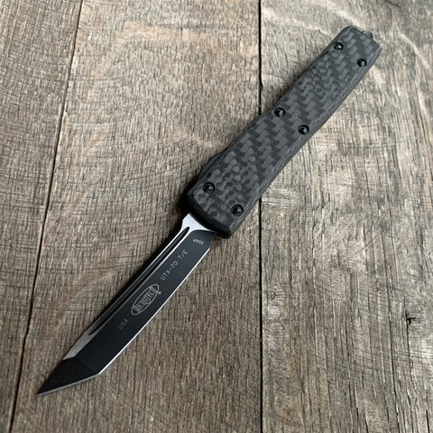 MICROTECH UTX-70 CARBON FIBER TOP TANTO EDGE  SIGNATURE SERIES  149-1 CFS