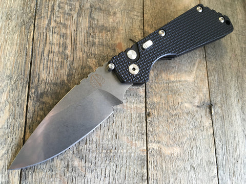 "Strider + Protech SnG Automatic Knife Knurled (3.5"" Stonewash) 2405"