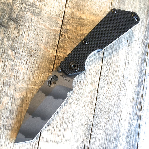 "Strider SnG Black Flat Folding Knife (3.5"" Tanto Cerakoted)"