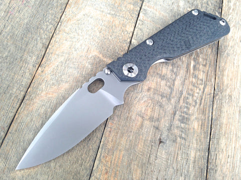 "Mick Strider MSC Performance Series SnG CC Knife Knurled CF/Ti (3.6"" PVD)"