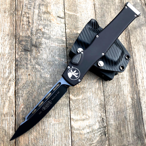 "Microtech Halo VI S/E OTF Automatic  (4.4"" Black) 251-1 Non-Safety"