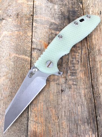 "Hinderer Knives Fatty XM-18 Wharncliffe  Translucent G10 (3.5"" Working Finish)"