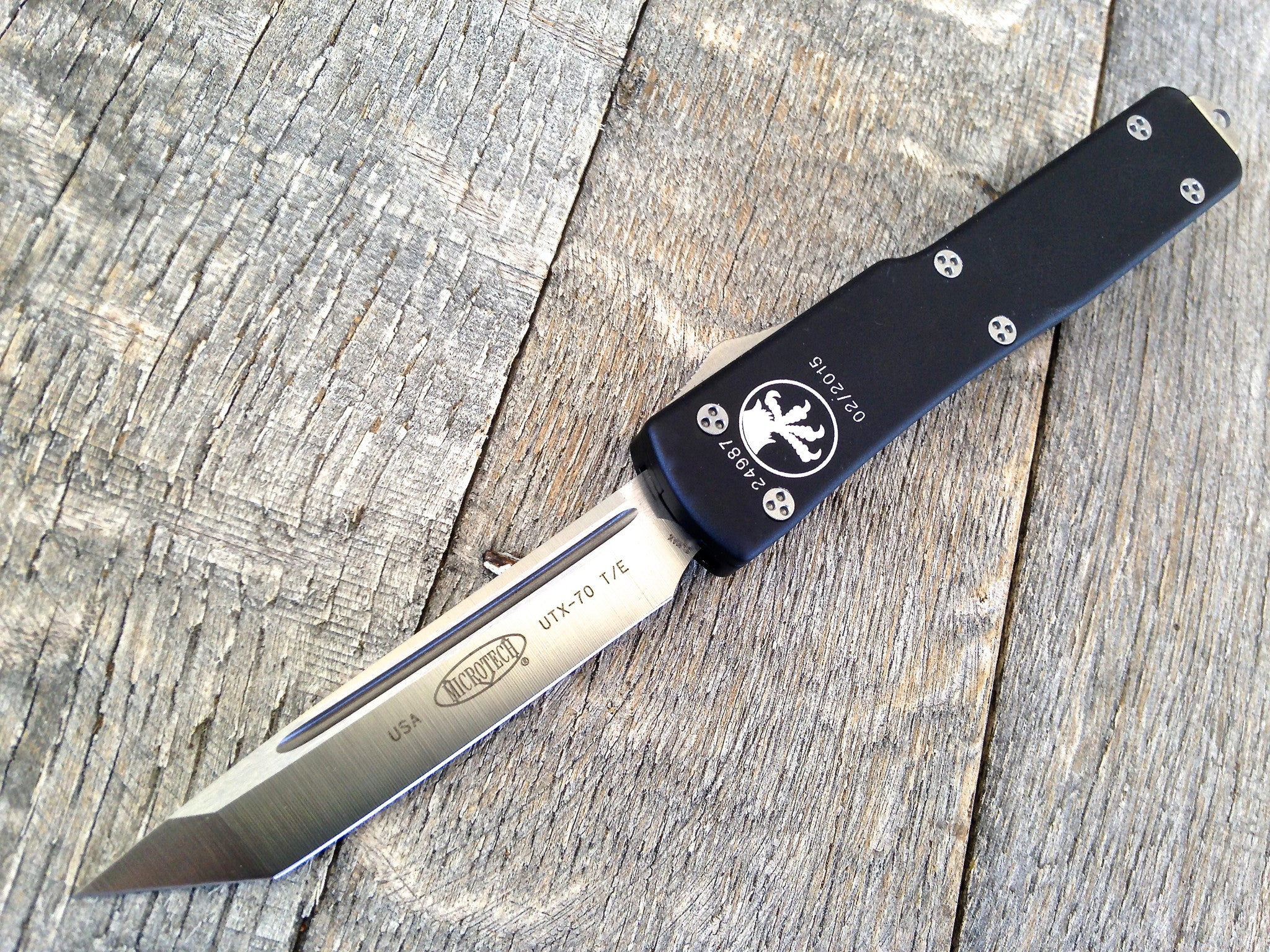 "Microtech UTX-70 Tanto Automatic Knife (2.4"" Satin) 149-4"