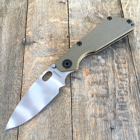 "Strider SnG Green Flat Knife (3.5"" Ghost Striped) OD Green"