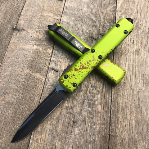 "2020 Microtech Ultratech  Zombie Tech S/E (3.4"" Black Plain) 121-1Z"