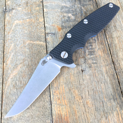 "2017 Rick Hinderer Eklipse Gen 2 Flipper Black G-10 (3.5"" Working Finish )"
