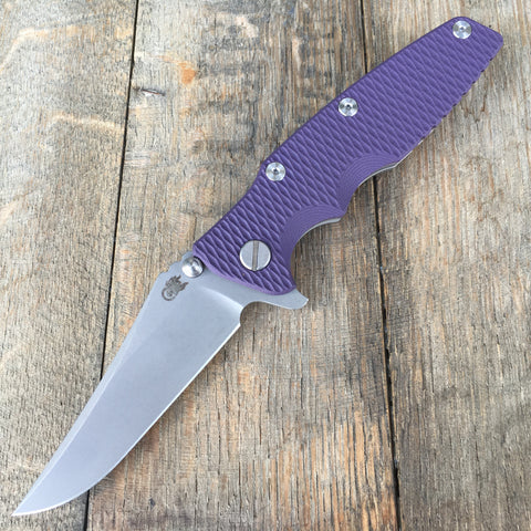 "2017 Rick Hinderer Eklipse Gen 2 Flipper Purple G-10 (3.5"" Working Finish)"