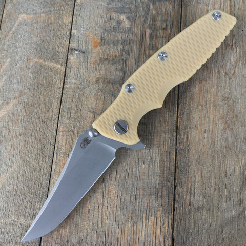 "2017 Rick Hinderer Eklipse Gen 2 Flipper Sand G-10 (3.5"" Working Finish )"