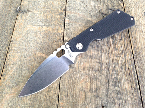 "Strider Knives PT Knife Black G-10 (2.75"" Stonewash)"