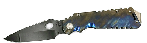 "Medford Arktika Frame Lock Knife Flamed Titanium (4.25"" Black) MKT"