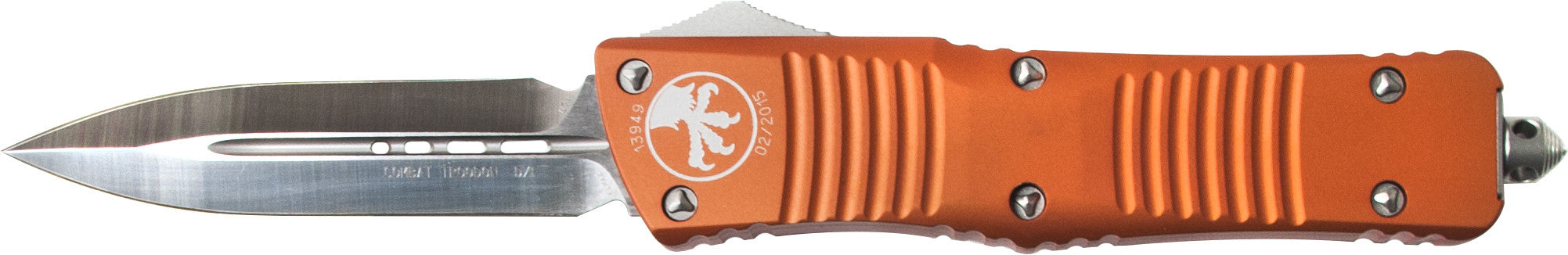 "Microtech Combat Troodon OTF D/E Automatic (3.8"" Satin) 142-4OR - GearBarrel.com"