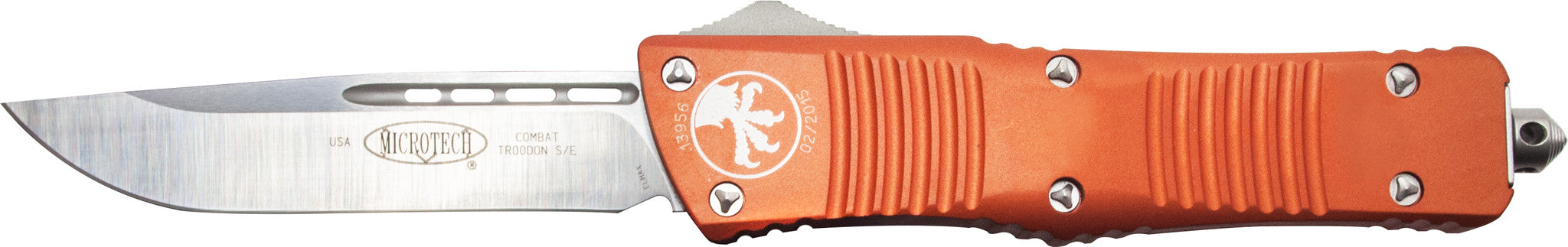 "Microtech Combat Troodon S/E OTF  (3.8"" Orange) 143-4OR - GearBarrel.com"