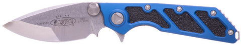 "Microtech DOC Flipper Knife Blue (3.75"" Stonewash Plain) 153-10BL"