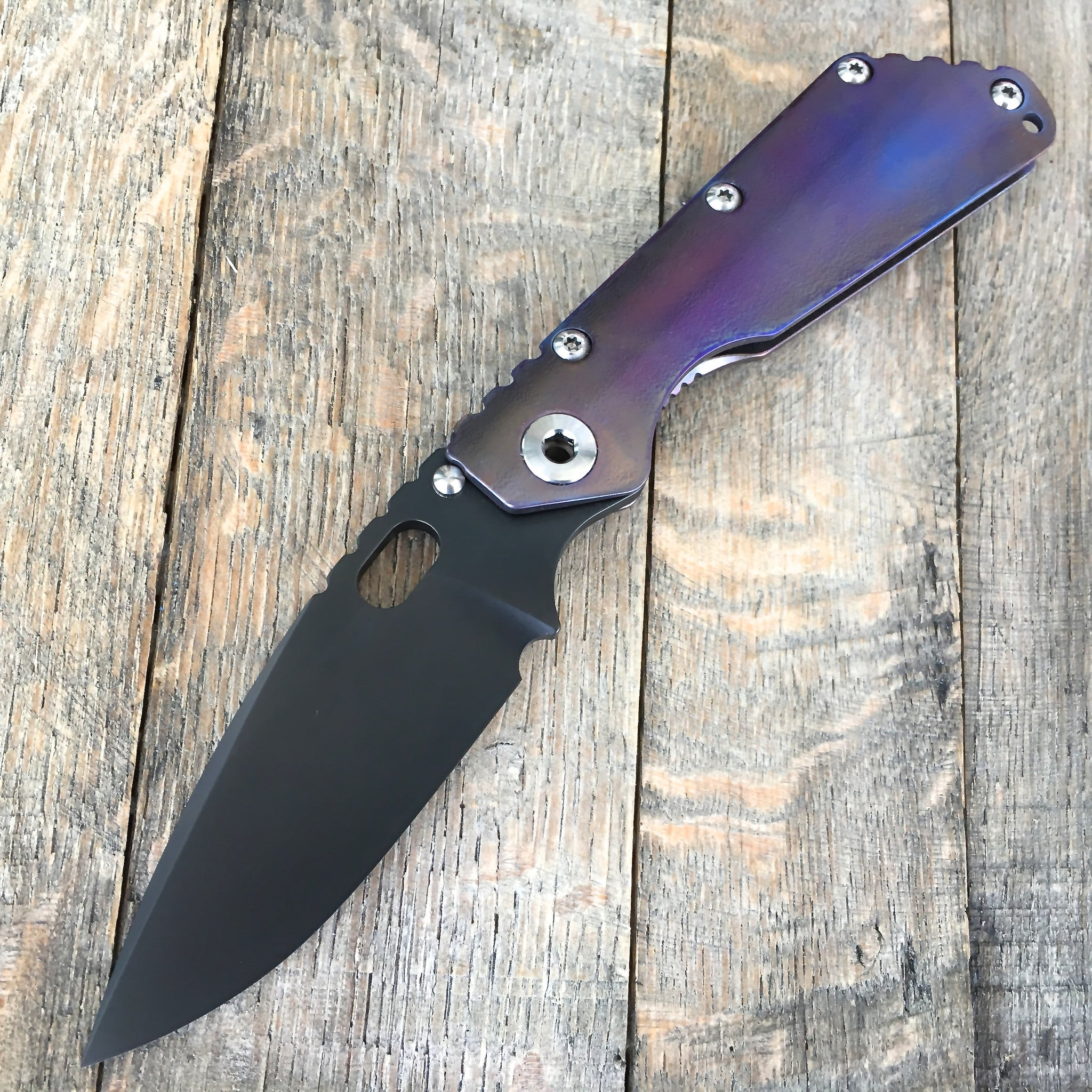 "Mick Strider SMF Knife Orange Peel Titanium (3.9"") MSC - GearBarrel.com"