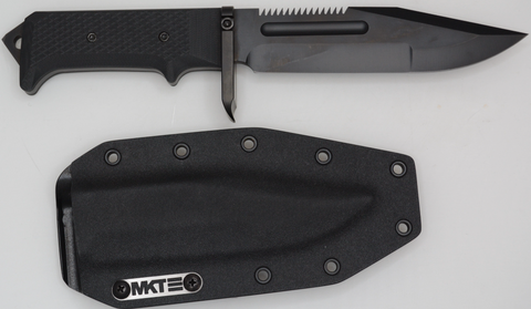 "Medford USMC Raider Fixed Blade Knife Black G-10 (6.5"" Black) MKT"