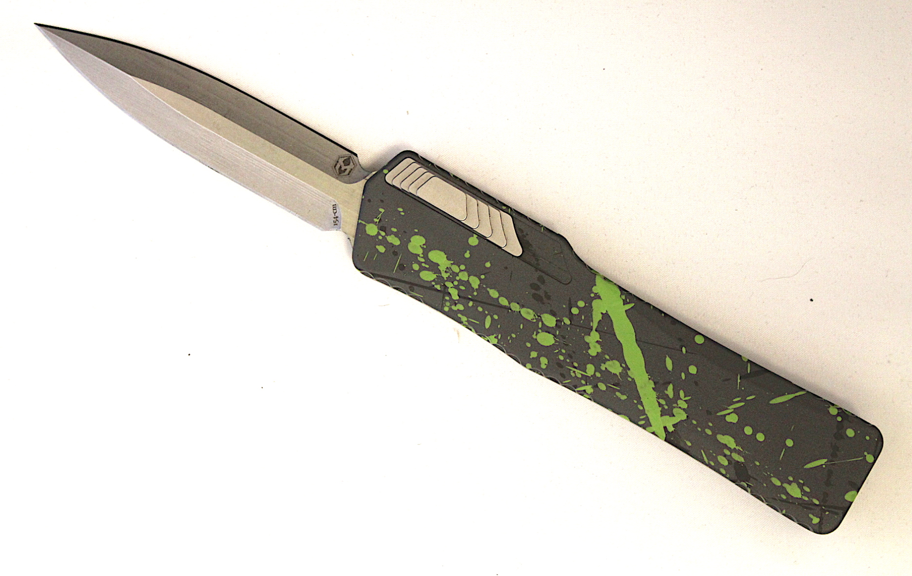 "Heretic Knives Cleric Double Edge OTF Hulk Green (3.5"" Stonewash) - GearBarrel.com"