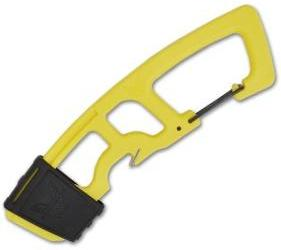 Benchmade Yellow Strap Cutter Rescue Hook w/ Carabiner 9CB-YEL - GearBarrel.com