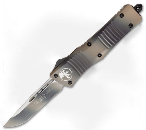 "Microtech Tan Camo Combat Troodon OTF (3.8"" Plain) 143-1TC"