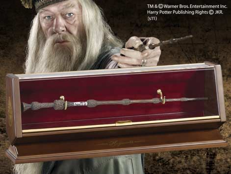 Harry Potter - Bacchetta in Bronzo Albus Silente con espositore