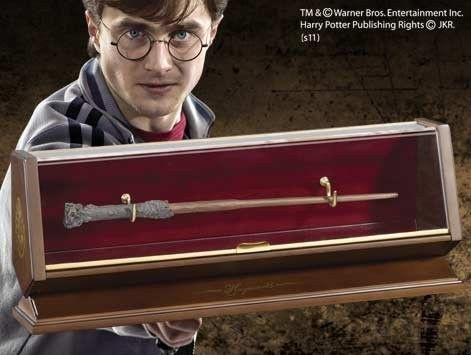Harry Potter - Bacchetta in Bronzo Harry Potter con espositore