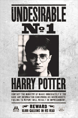 Harry Potter - Locandina Undesirable N1 Harry Potter