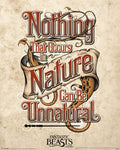 Animali Fantastici - Manifesto Nature