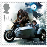 Harry Potter - Half sheet of 25 x 1st Class Stamps Hagrid