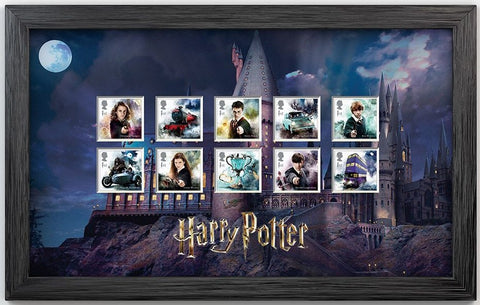 Harry Potter - Framed Stamp Set