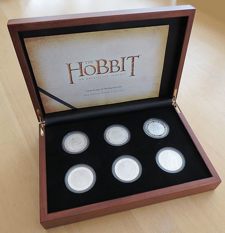 Lo Hobbit - $1 Dollar Silver Proof Coin Set New Zealand Post