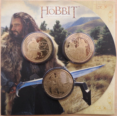 Lo Hobbit - $1 Dollar Uncirculated Coin Set New Zealand Post