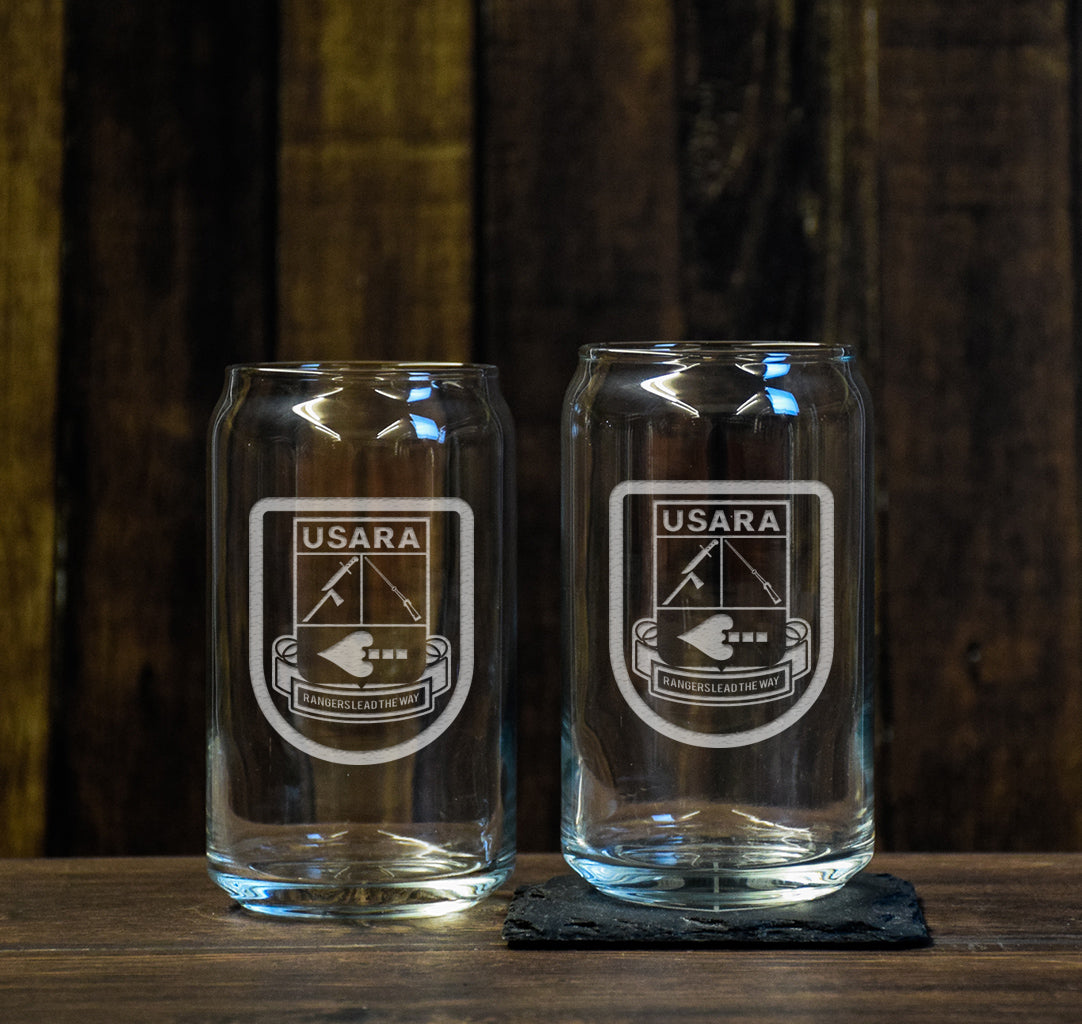 USARA Logo Beer Can Glass Set