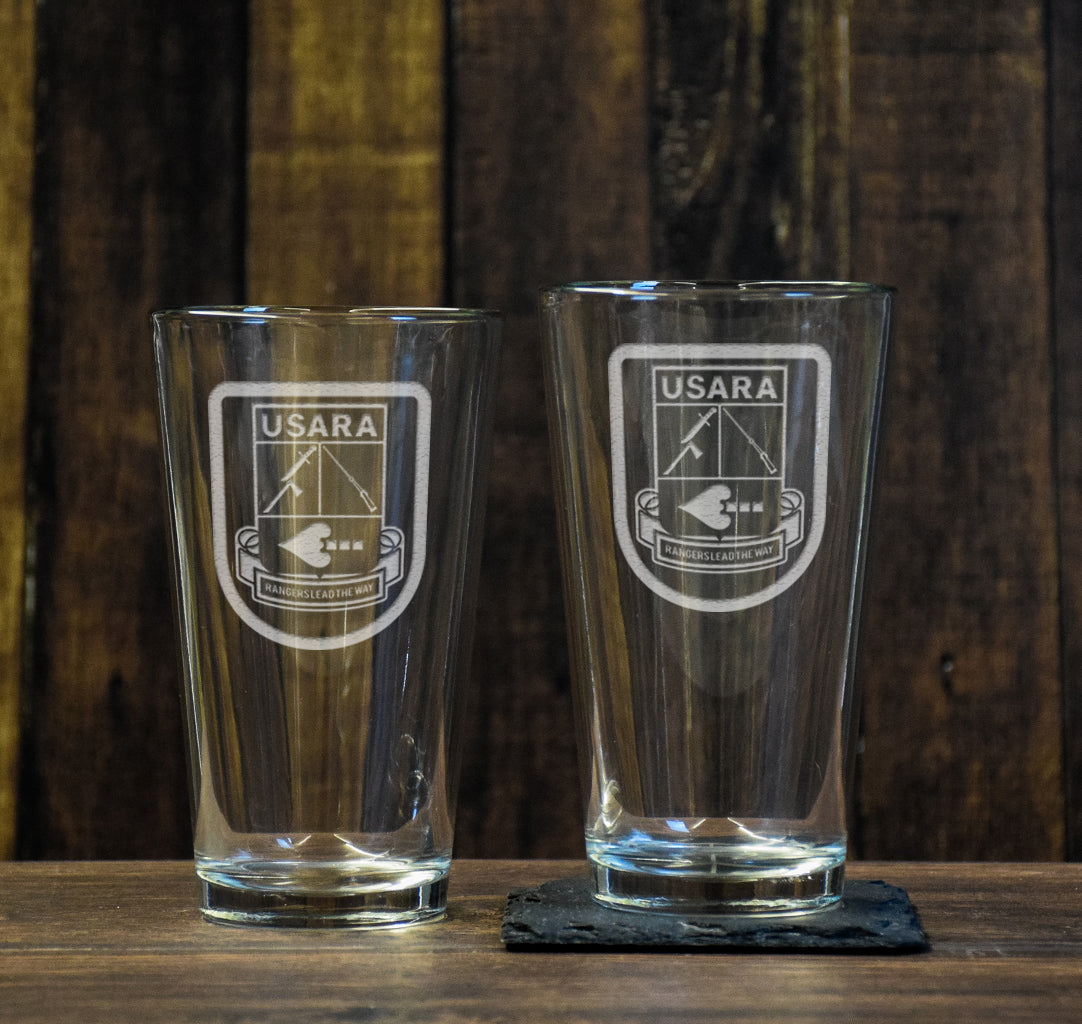 USARA Logo Pint Glass Set