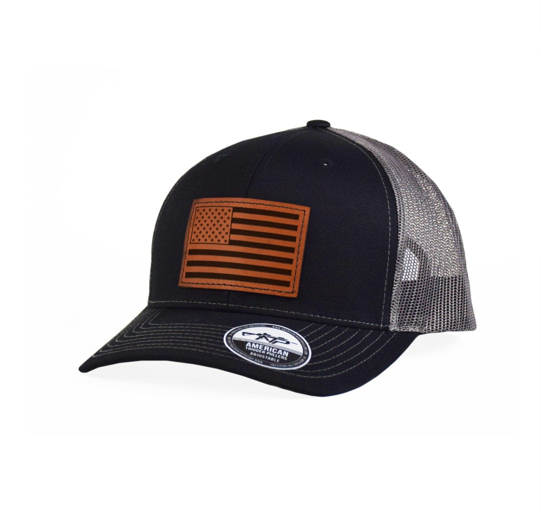 USA Flag Leather Snap-Back