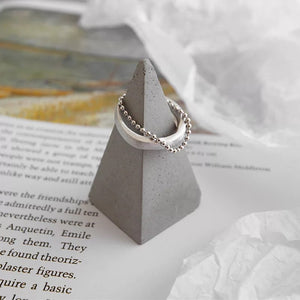 Sterling Silver Beaded Ring - Ibeauty By Halz