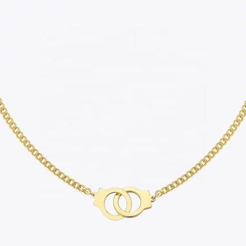 Gia Handcuff Necklace 18k Gold - Ibeauty By Halz
