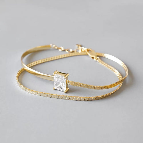 Double Layer Chain Bracelet - Ibeauty By Halz