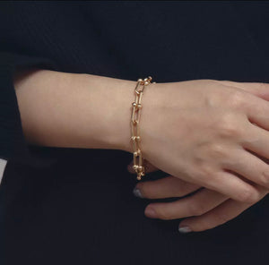 U-shaped Link Bracellet 14K Gold - Ibeauty By Halz