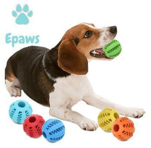 Dog Teeth Cleaning Rubber Ball - Epaws best dog teeth cleaning toys